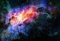 Starry deep outer space nebula and galaxy Stock Photography
