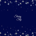 Starry frame on dark blue background Royalty Free Stock Photo