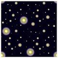 Starry night sky seamless