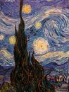 The starry night by Vincent Van Gogh at MOMA Royalty Free Stock Photo