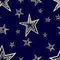 Starry seamless pattern eps set with stars and sky four contrast colorful variants Royalty Free Stock Image