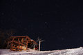 Starry sky in mount changbai the night cbs international resort near Royalty Free Stock Images