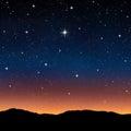 Starry sky at night Royalty Free Stock Photo