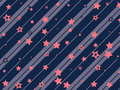 Starry and striped background holiday festive Royalty Free Stock Photography
