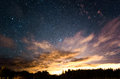 Starry sunset Royalty Free Stock Photo