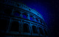 Stars above Colosseum Royalty Free Stock Photo