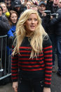 Stars arrive for band aid london england november ellie goulding attends to record the single at sarm studios on november in Royalty Free Stock Photo