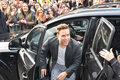 Stars arrive for band aid london england november olly murs attends to record the single at sarm studios on november in london Stock Photos