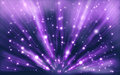 Stars background of violet luminous rays Stock Photography