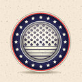 Stars and button of vote concept Royalty Free Stock Photo