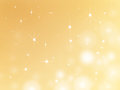 Stars christmas background d illustration of glittery gold on golden Royalty Free Stock Photo