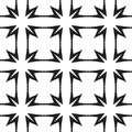Stars and crosses abstract vector seamless pattern black white geometric background Royalty Free Stock Images