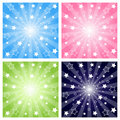 Stars explosion Royalty Free Stock Photo