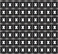 Stars forms in black and white, repeated pattern