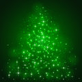 Stars on green background Royalty Free Stock Photo