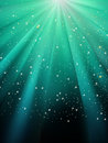 Stars on green striped background. EPS 8 Stock Photo