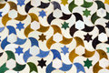 stars and moons. mosaic of the Alhambra, Granada Royalty Free Stock Photo