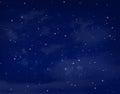 Stars In A Night Blue Sky