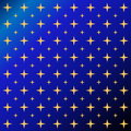 Stars by night deep blue sky with lots of yellow Stock Images