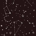 Stars in the night sky pattern Royalty Free Stock Photo