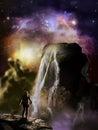 Stars over alien planet