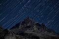 Stars over the Eiger Mountain Stock Photo