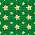 Stars over knitted background Stock Photos