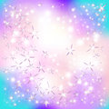 Stars and particles on an abstract background Royalty Free Stock Image