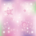 Stars and particles on a lilac background Stock Photos