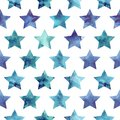Stars pattern seamless with watercolor vector illustration Stock Image