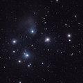 Stars in the Pleiades (M45) Royalty Free Stock Photo
