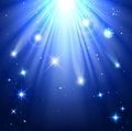 Stars with rays of light