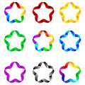 Stars of ribbons set web elements as colored for designers for various necessities Royalty Free Stock Photography