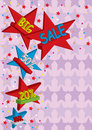Stars Sale_eps Royalty Free Stock Photography