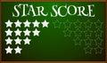 Stars score on blackboard