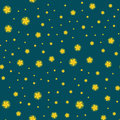 Stars seamless pattern for christmas illustration, dark sky at night or in space tile background Royalty Free Stock Photo