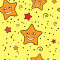 Stars seamless pattern texture with cartoon vector Stock Photo