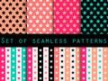 Stars. Set Seamless Patterns. ...