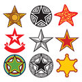 Stars set of vector star collection Stock Photo