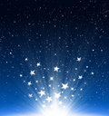 Stars and snowflakes new year 2012 Royalty Free Stock Photo