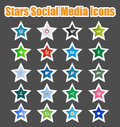 Stars Social Media Icons 2 Stock Photos