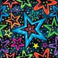 Stars Staring Seamless Pattern Royalty Free Stock Photo