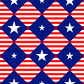 Stars Stripe USA Flag Diamond Chessboard Background Royalty Free Stock Photo