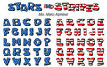 Stars & Stripes Alphabet Royalty Free Stock Photos