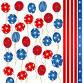 Stars and stripes balloons Stock Image