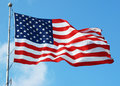 Stars and Stripes Flying Royalty Free Stock Images