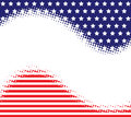 Stars stripes haltone background a and with a white halftone banner Royalty Free Stock Image