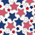 Stars and stripes pattern Stock Photo