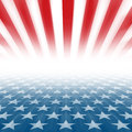 Stars and Stripes perspective background Royalty Free Stock Photo