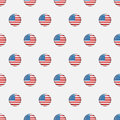 Stars and stripes seamless pattern. USA Independence day festive vector repeatable textures based on american flag